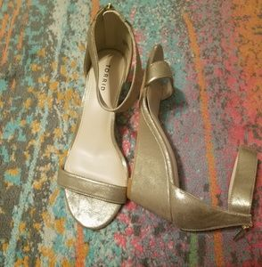 11W Gold Wedges with Ankle strap